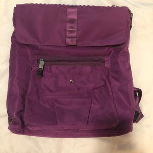 Plum Nylon Baggallini Lap Top Backpack